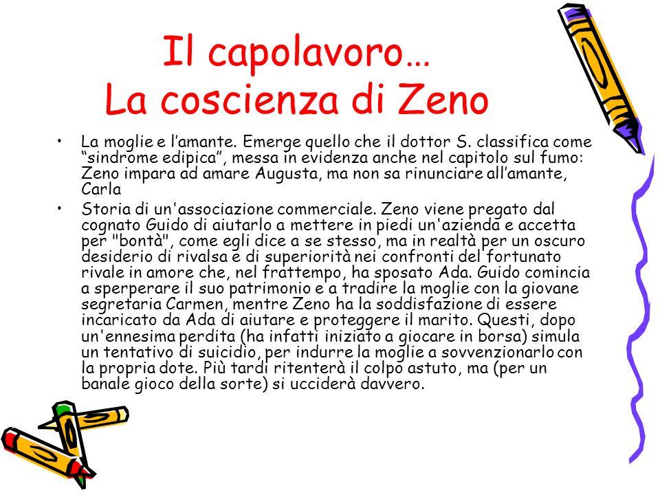 Il capolavoro… La coscienza di Zeno La moglie e lamante. Emerge quello che il dottor S. classifica come sindrome edipica, messa in evidenza anche nel