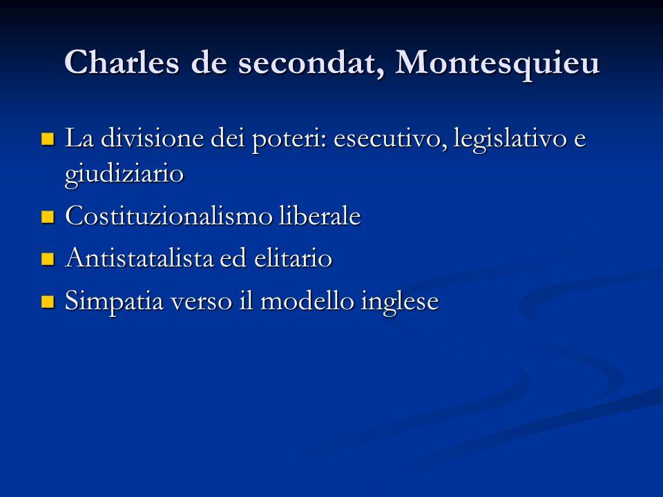 Charles de secondat, Montesquieu La divisione dei poteri: esecutivo, legislativo e giudiziario La divisione dei poteri: esecutivo, legislativo e giudi
