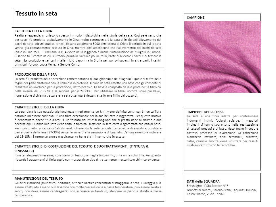 Caratteristiche della seta