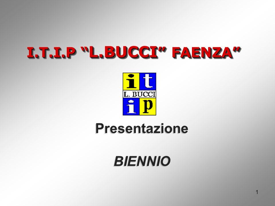 I.T.I.P L.BUCCI FAENZA 1 Presentazione BIENNIO Presentazione BIENNIO