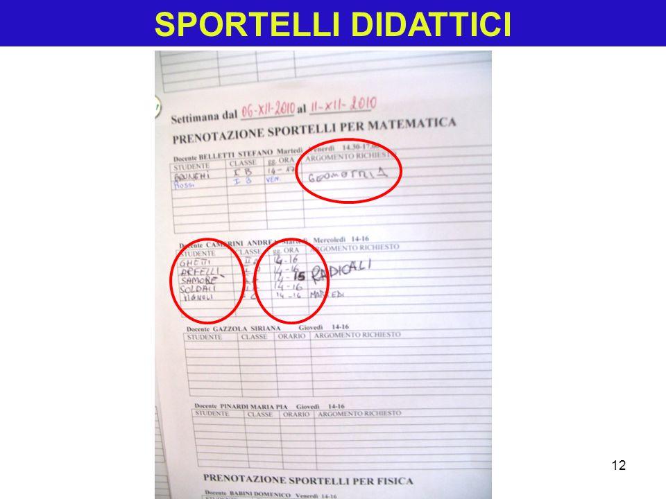SPORTELLI DIDATTICI 12