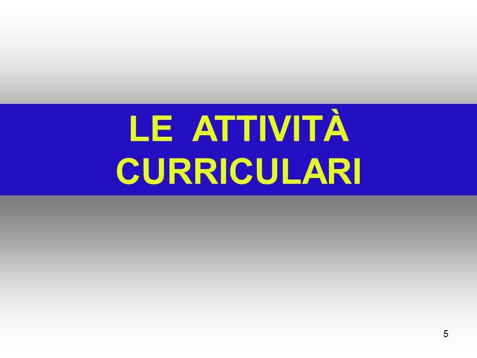 LE ATTIVITÀ CURRICULARI 5