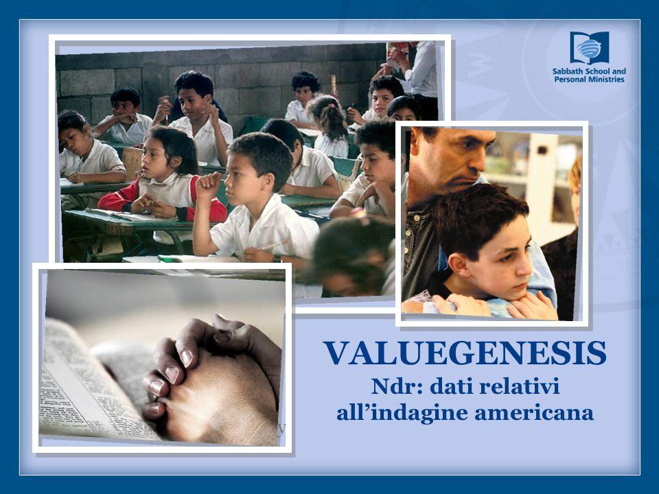 VALUEGENESIS Ndr: dati relativi allindagine americana Picture captions/page copy