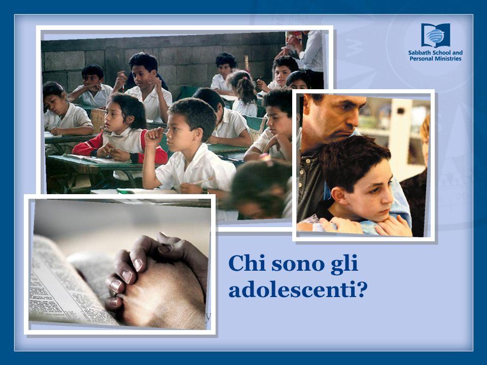 Chi sono gli adolescenti? Picture captions/page copy