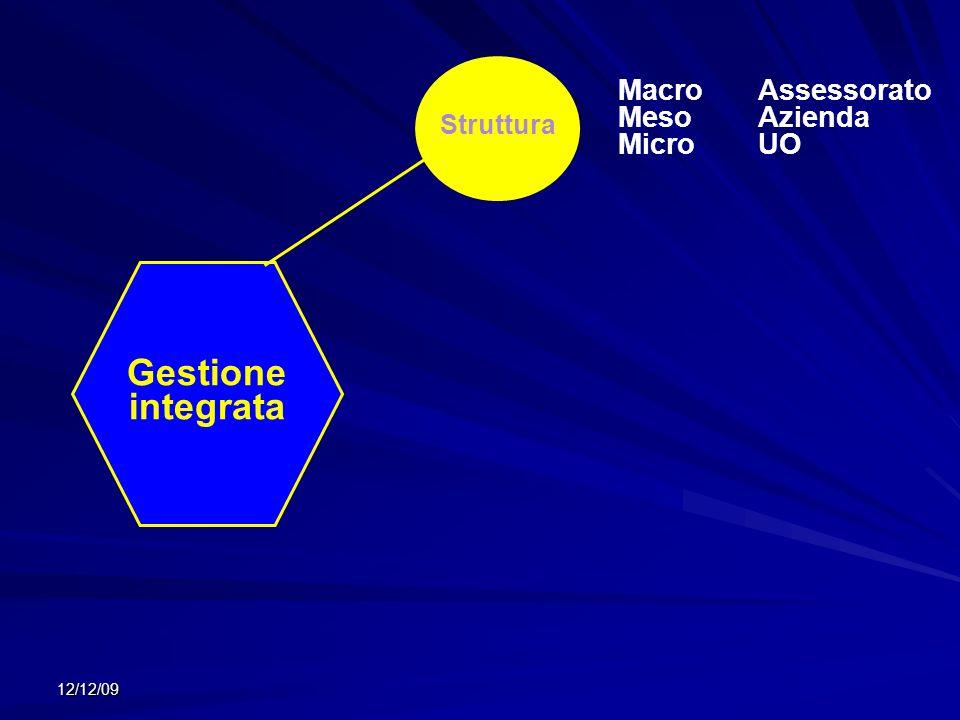12/12/09 Gestione integrata Struttura MacroAssessorato MesoAzienda MicroUO