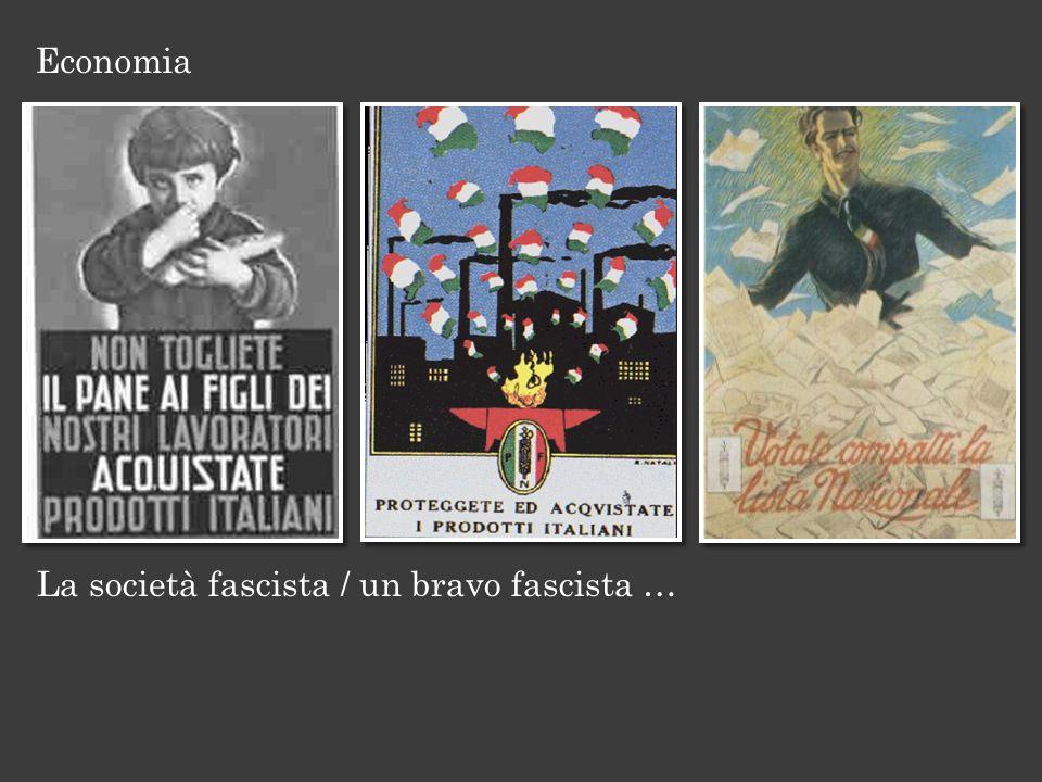 La società fascista / un bravo fascista … Economia
