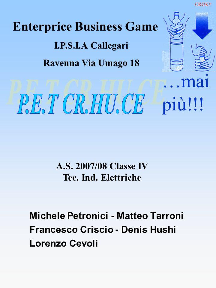 Michele Petronici - Matteo Tarroni Francesco Criscio - Denis Hushi Lorenzo Cevoli …mai più!!! A.S. 2007/08 Classe IV Tec. Ind. Elettriche Enterprice B