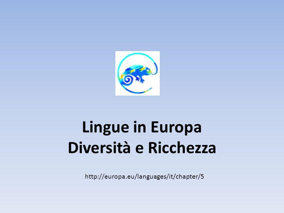 Diversità linguistica L Unione Europea si fonda sul principio della diversità di culture, di usi e costumi, di credenze e religioni e, appunto, delle lingue.