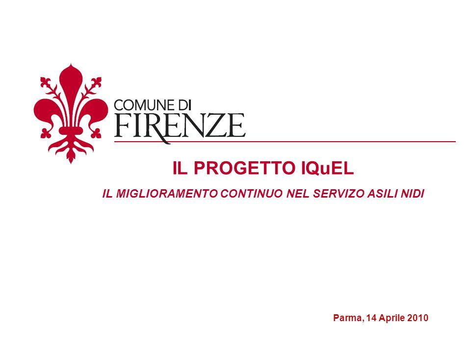 Parma, 14 Aprile 2010 IL PROGETTO IQuEL IL MIGLIORAMENTO CONTINUO NEL SERVIZO ASILI NIDI