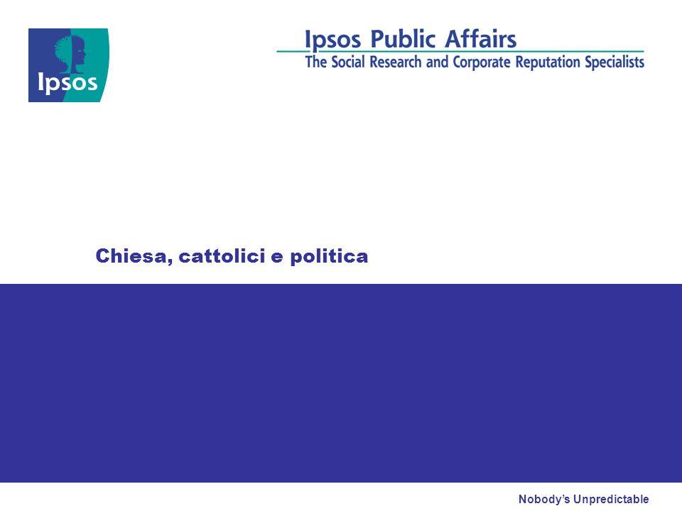 Nobodys Unpredictable Chiesa, cattolici e politica