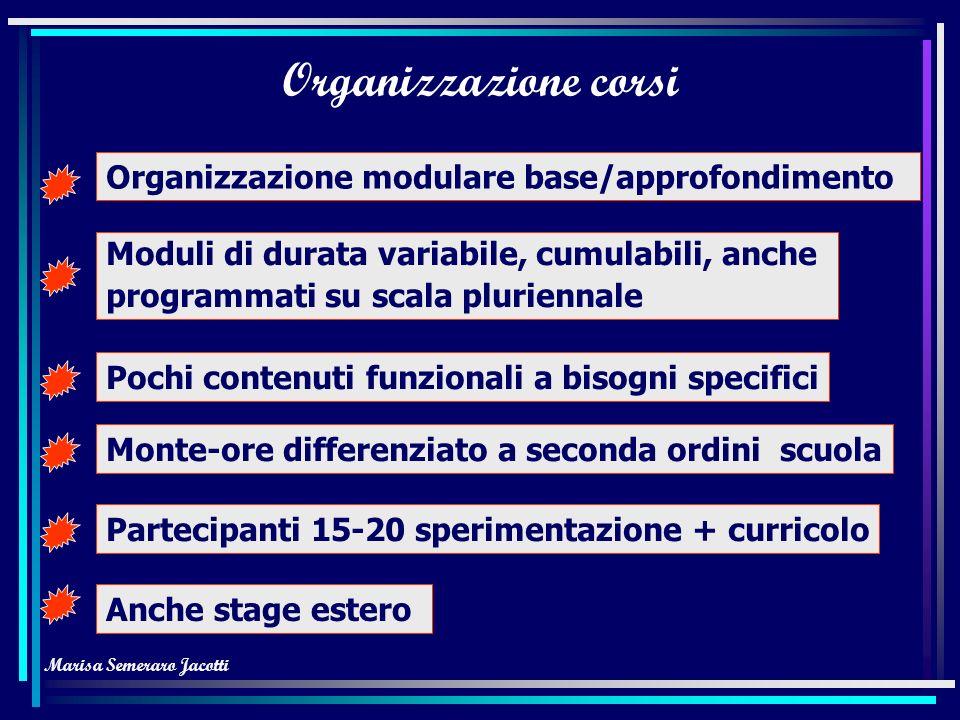 Marisa Semeraro Jacotti Obiettivi generali Selezionare materiali funzionali a obiettivi Organizzare centro autoapprendimento Programmare materiali aut