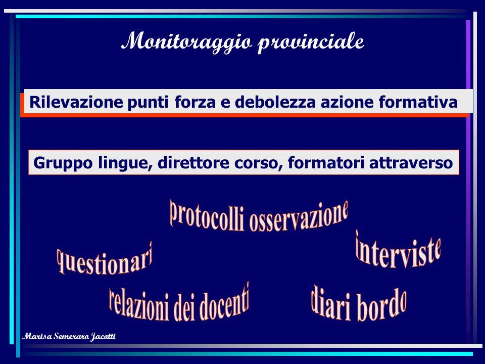 Marisa Semeraro Jacotti Contenuti Informatica di base Accrescimento competenze linguistico/ comunicative per scuola materna e elementare Moduli base T
