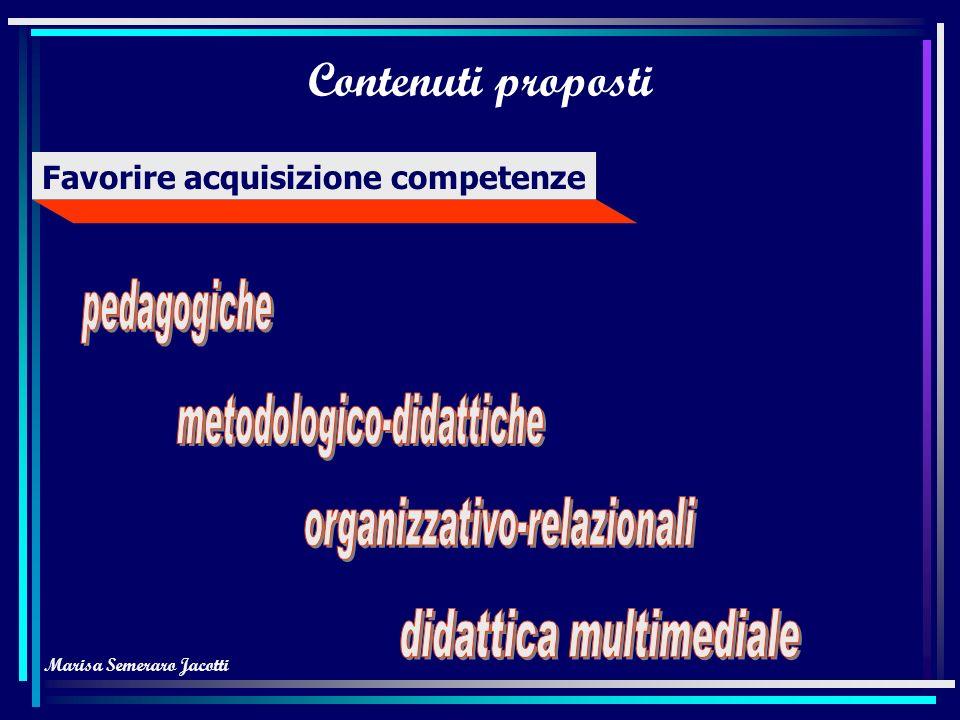 Marisa Semeraro Jacotti Metodologia Attività collaborativa attraverso Equilibrio tra modelli top-down e bottom up bottom-across (collaborazione attrav