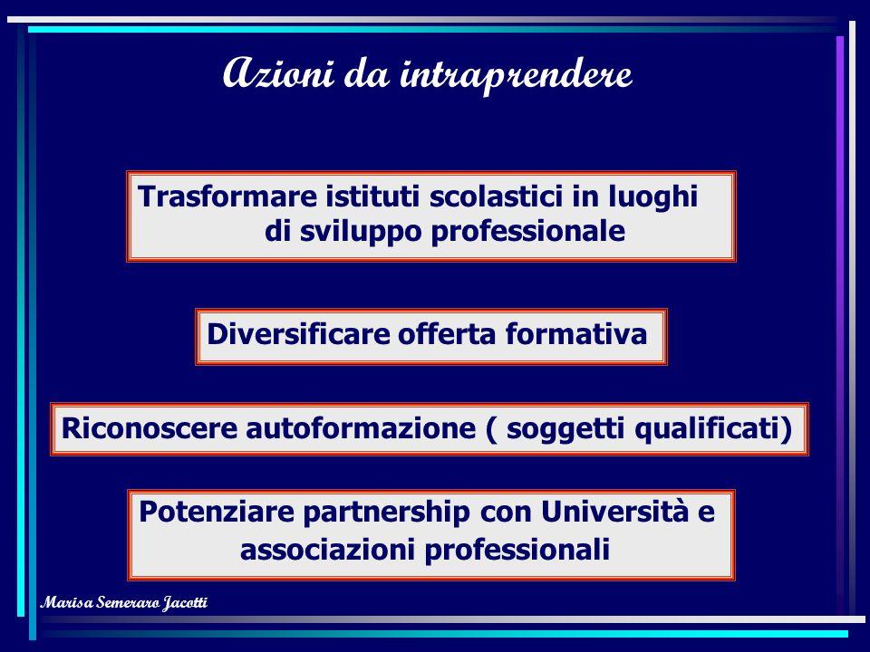Marisa Semeraro Jacotti Favorire acquisizione competenze Contenuti proposti