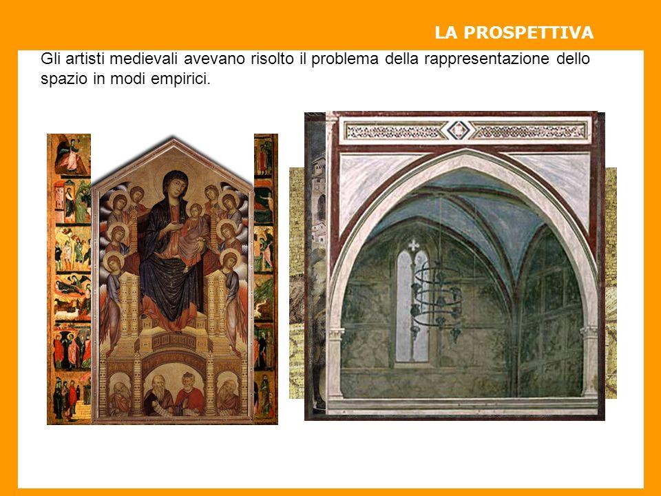 Gli artisti medievali avevano risolto il problema della rappresentazione dello spazio in modi empirici.