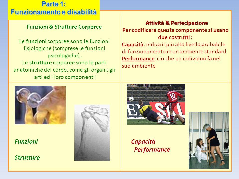 Funzioni & Strutture Corporee Le funzioni corporee sono le funzioni fisiologiche (comprese le funzioni psicologiche). Le strutture corporee sono le pa