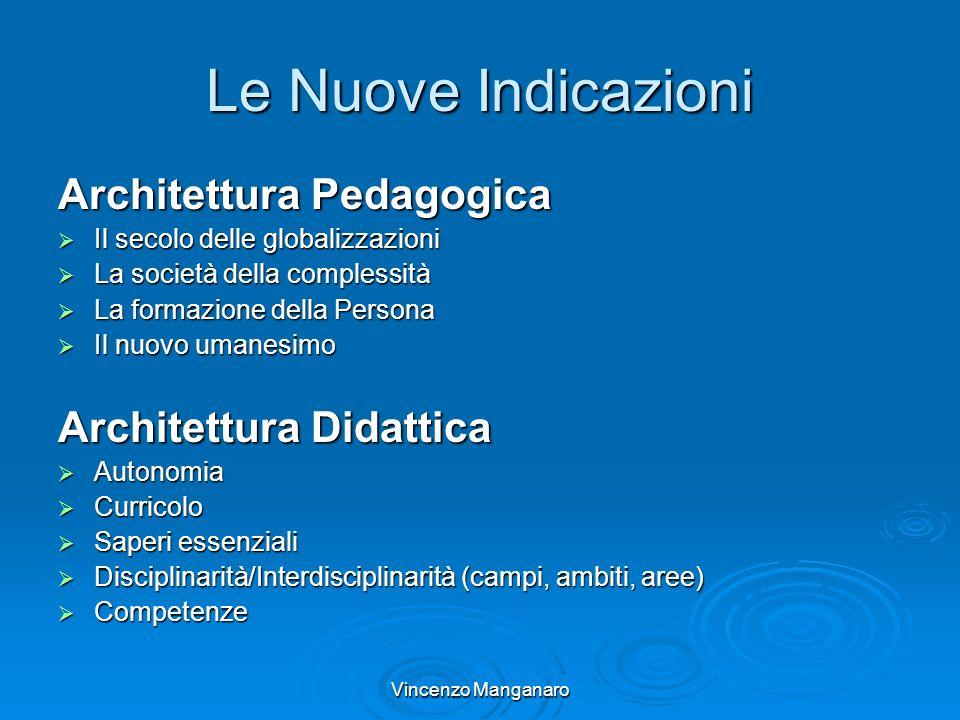 Vincenzo Manganaro Le Nuove Indicazioni Architettura Pedagogica Il secolo delle globalizzazioni Il secolo delle globalizzazioni La società della compl