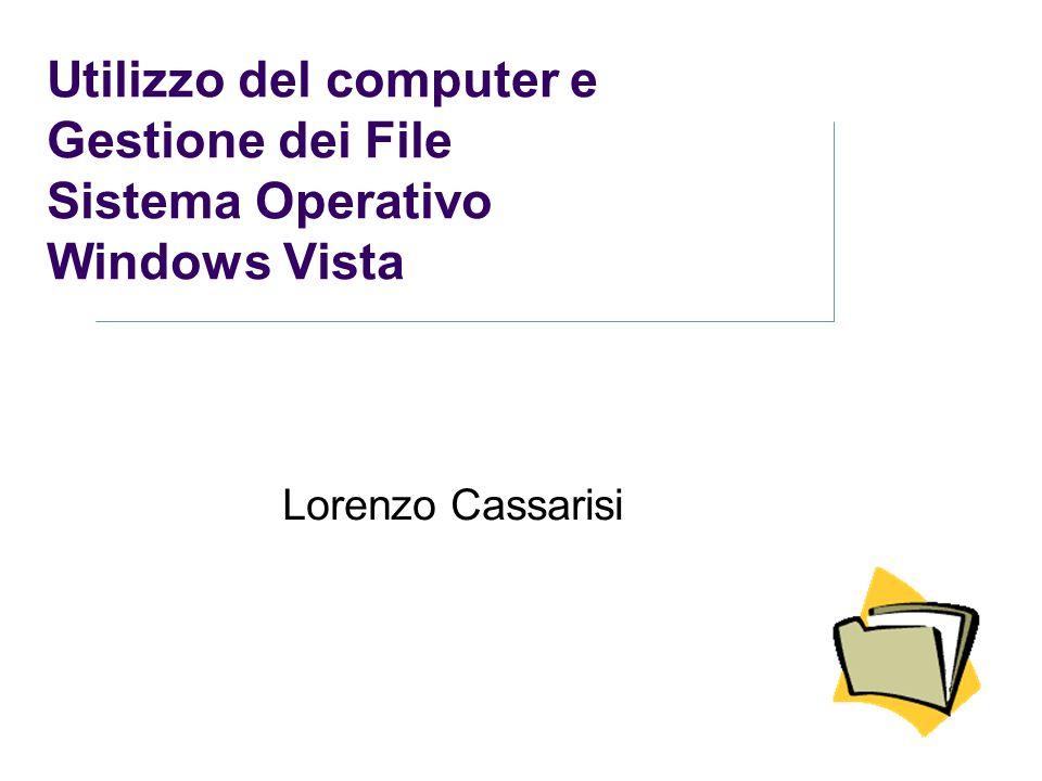 Utilizzo del computer e Gestione dei File Sistema Operativo Windows Vista Lorenzo Cassarisi