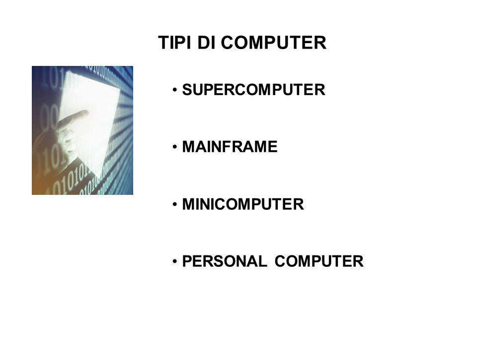 IL SUPERCOMPUTER I supercomputer sono, in genere, i più potenti elaboratori disponibili al Momento sul mercato.