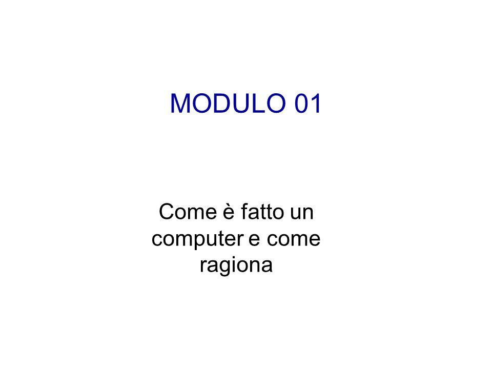 MODULO 01 Come è fatto un computer e come ragiona