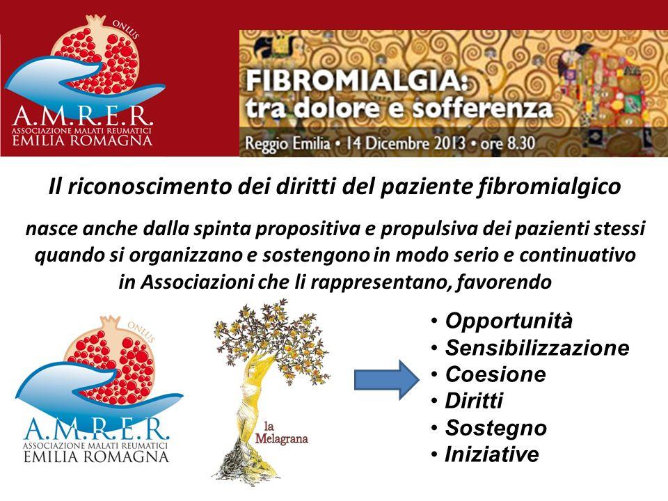 Il riconoscimento dei diritti del paziente fibromialgico nasce anche dalla spinta propositiva e propulsiva dei pazienti stessi quando si organizzano e