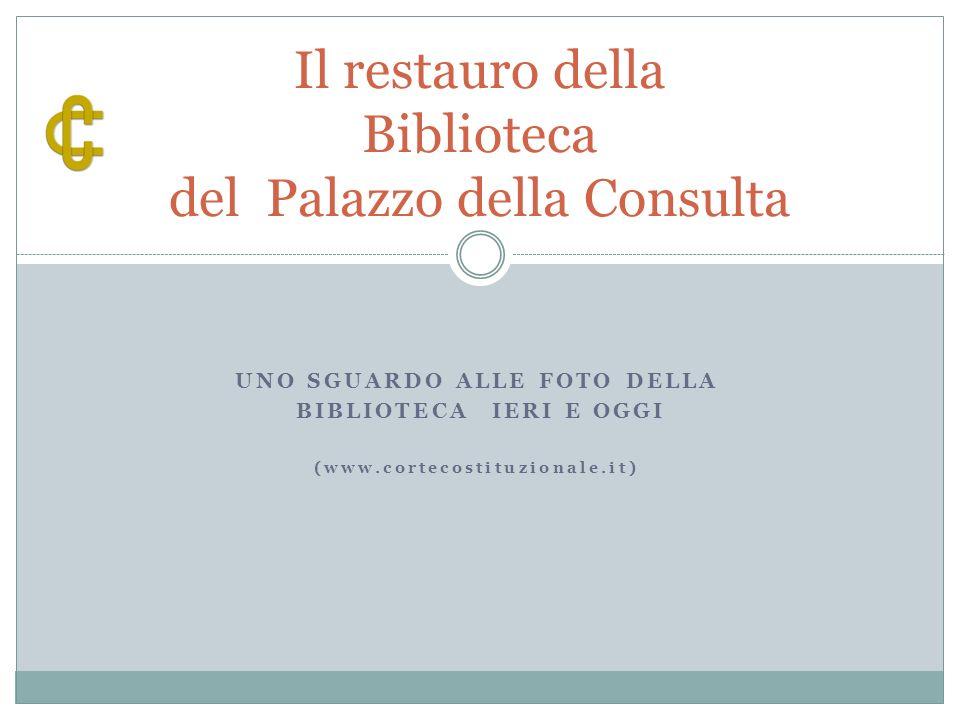 Il nuovo accesso al piano scantinato e ai depositi 12 Lattuale sistema di conservazione del patrimonio librario/documentale.