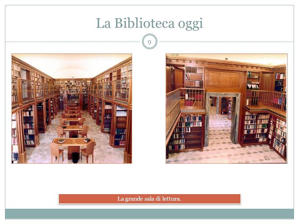 La sale di lettura principale e la prospettiva delle varie sale. La Biblioteca oggi 10
