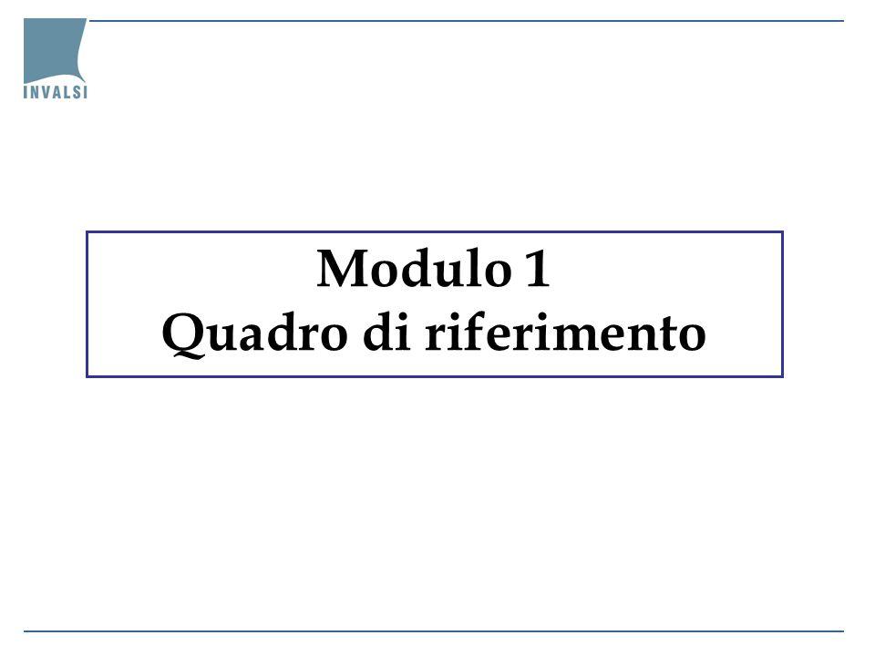 Modulo 1 Quadro di riferimento