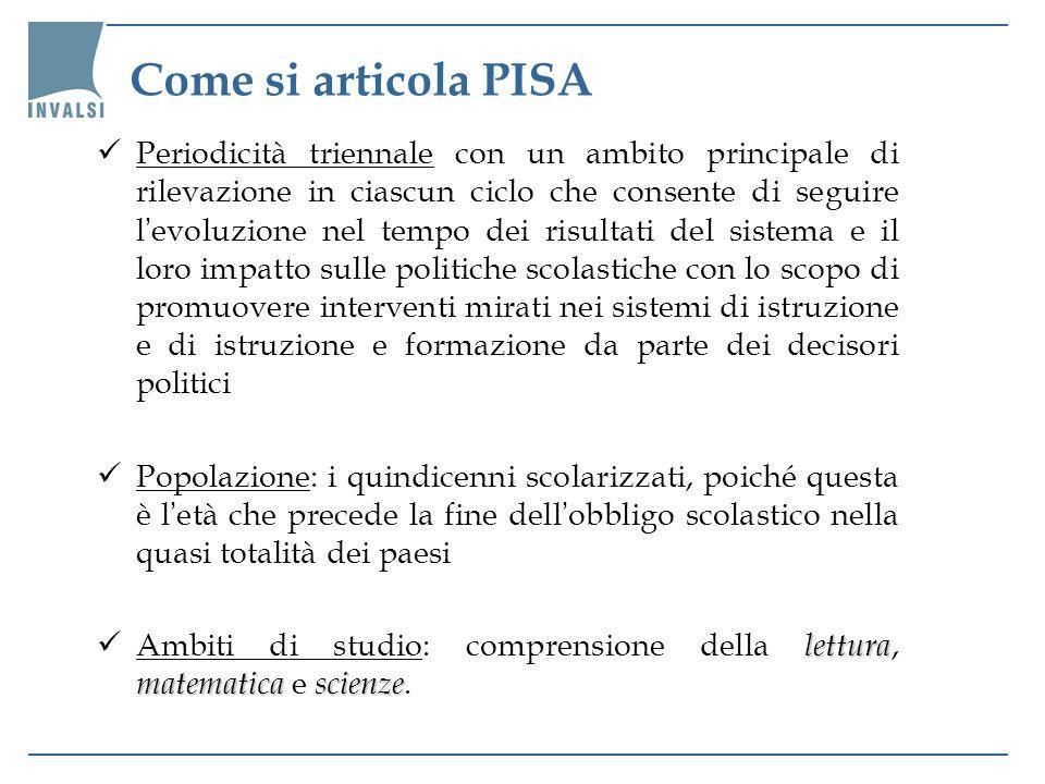 Il framework dell indagine OCSE-PISA