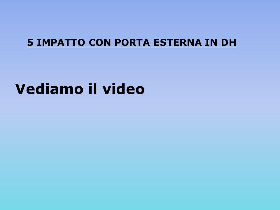 5 IMPATTO CON PORTA ESTERNA IN DH Vediamo il video