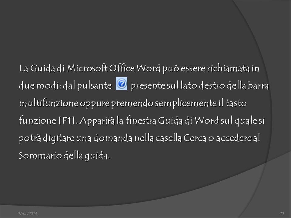 07/05/201420 finestra di dialogo Nuovo, nella quale si può scegliere sia il documento vuoto, sia un altro documento tipo, da scegliere tra i modelli f