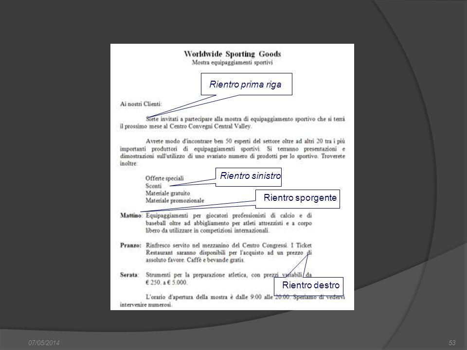 07/05/201453 finestra di dialogo Nuovo, nella quale si può scegliere sia il documento vuoto, sia un altro documento tipo, da scegliere tra i modelli f