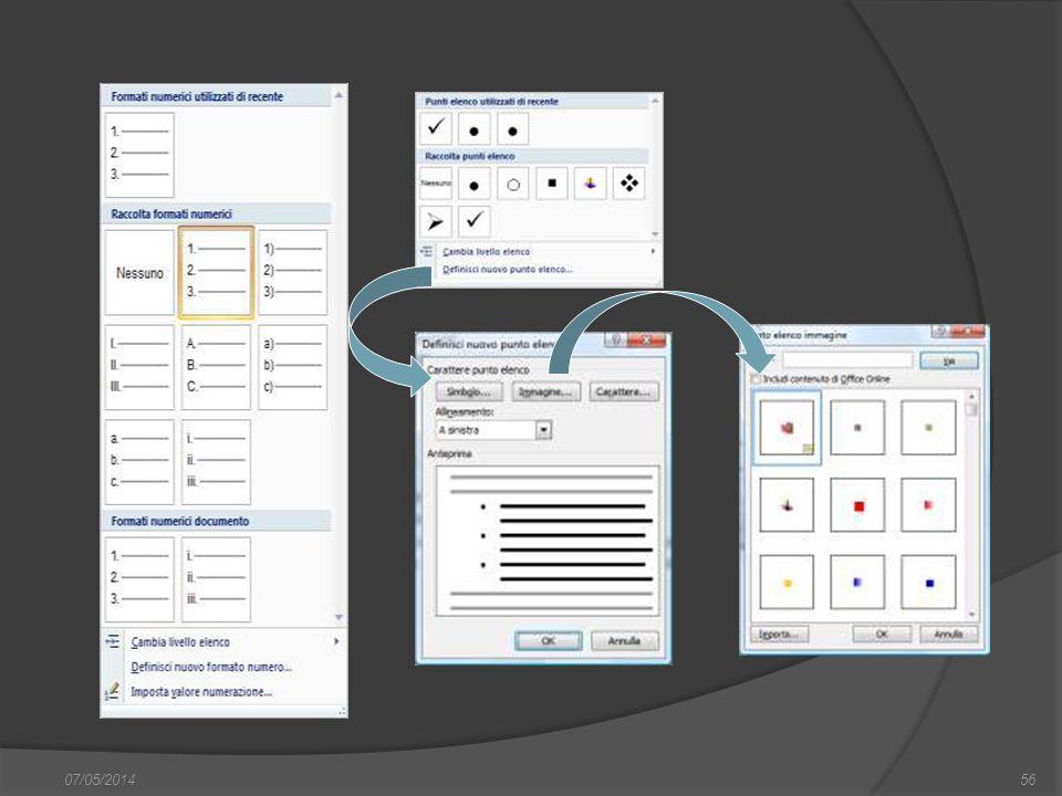 07/05/201456 finestra di dialogo Nuovo, nella quale si può scegliere sia il documento vuoto, sia un altro documento tipo, da scegliere tra i modelli f