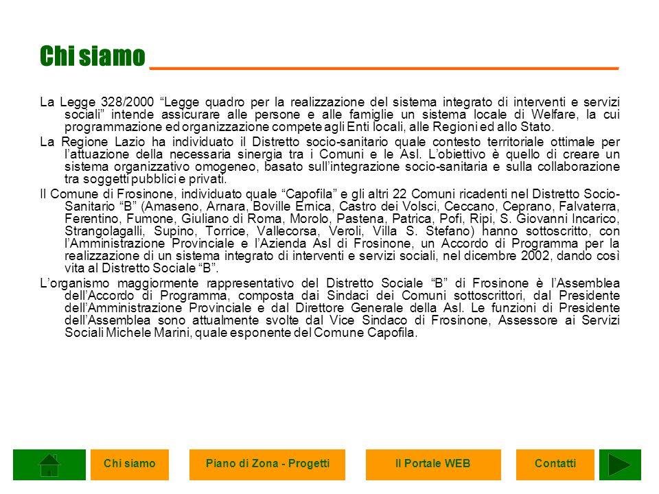 Chi siamoPiano di Zona - ProgettiIl Portale WEBContatti Contatti __________________________________ Comune di Castro dei Volsci Via S.