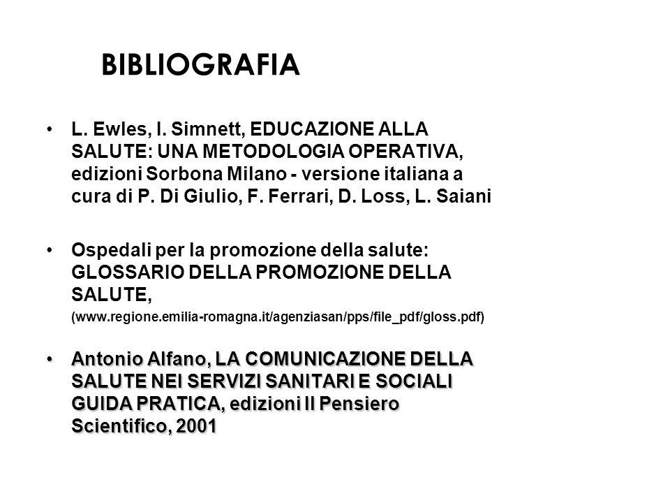 BIBLIOGRAFIA L.Ewles, I.