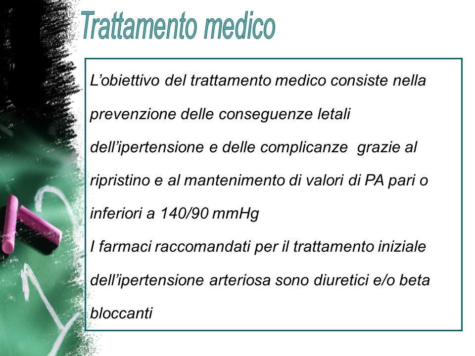 Lobiettivo del trattamento medico consiste nella prevenzione delle conseguenze letali dellipertensione e delle complicanze grazie al ripristino e al m