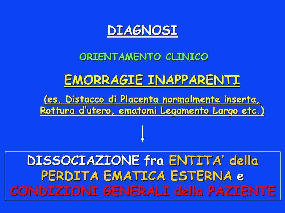 DIAGNOSI EMORRAGIE INAPPARENTI (es.