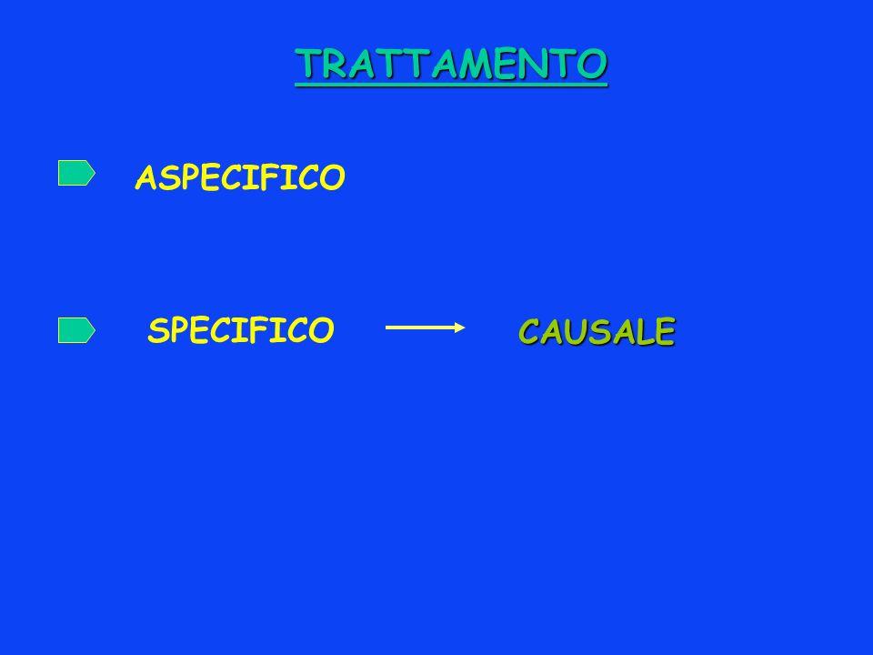 TRATTAMENTO SPECIFICO ASPECIFICO CAUSALE