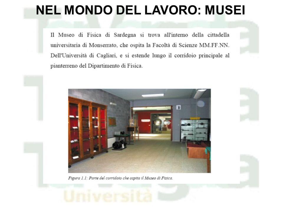 NEL MONDO DEL LAVORO: MUSEI
