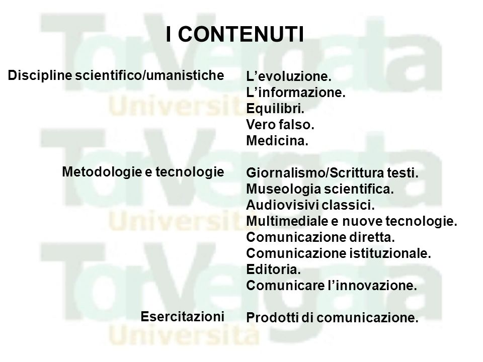 Il Master in Comunicazione della Scienza e della Tecnologia dell Università di Roma Tor Vergata http://comunicazione-scienza.uniroma2.it mastercom@scienze.uniroma2.it http://www.mifav.uniroma2.it/life2008/login.php
