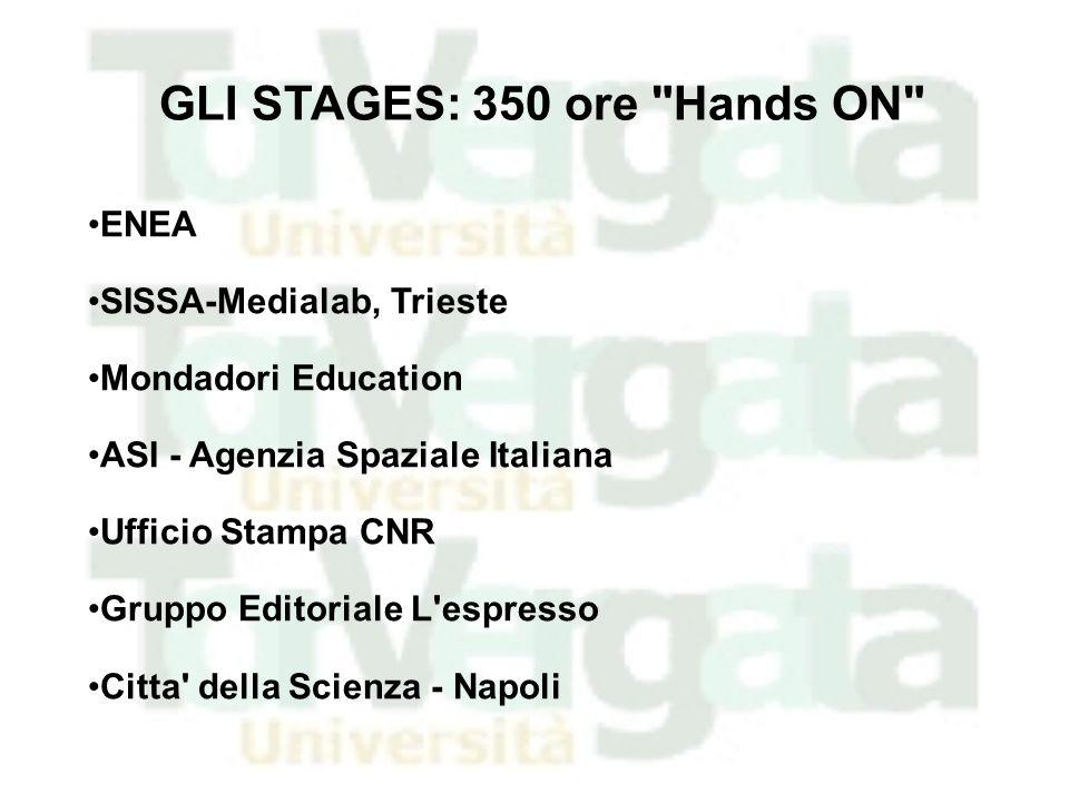 ENEA SISSA-Medialab, Trieste Mondadori Education ASI - Agenzia Spaziale Italiana Ufficio Stampa CNR Gruppo Editoriale L'espresso Citta' della Scienza