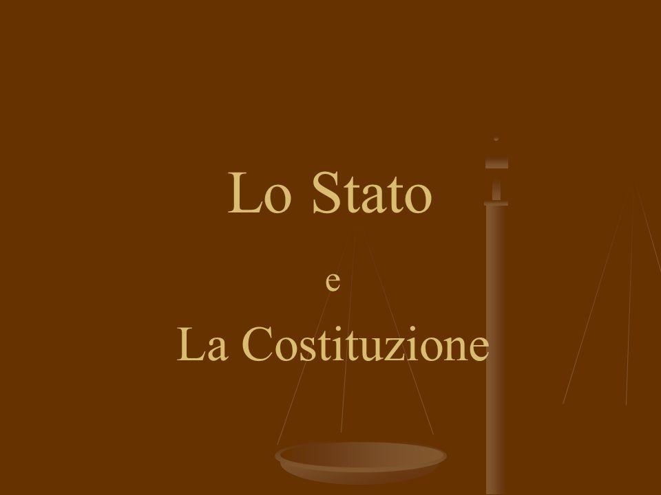Lo Stato La Costituzione e