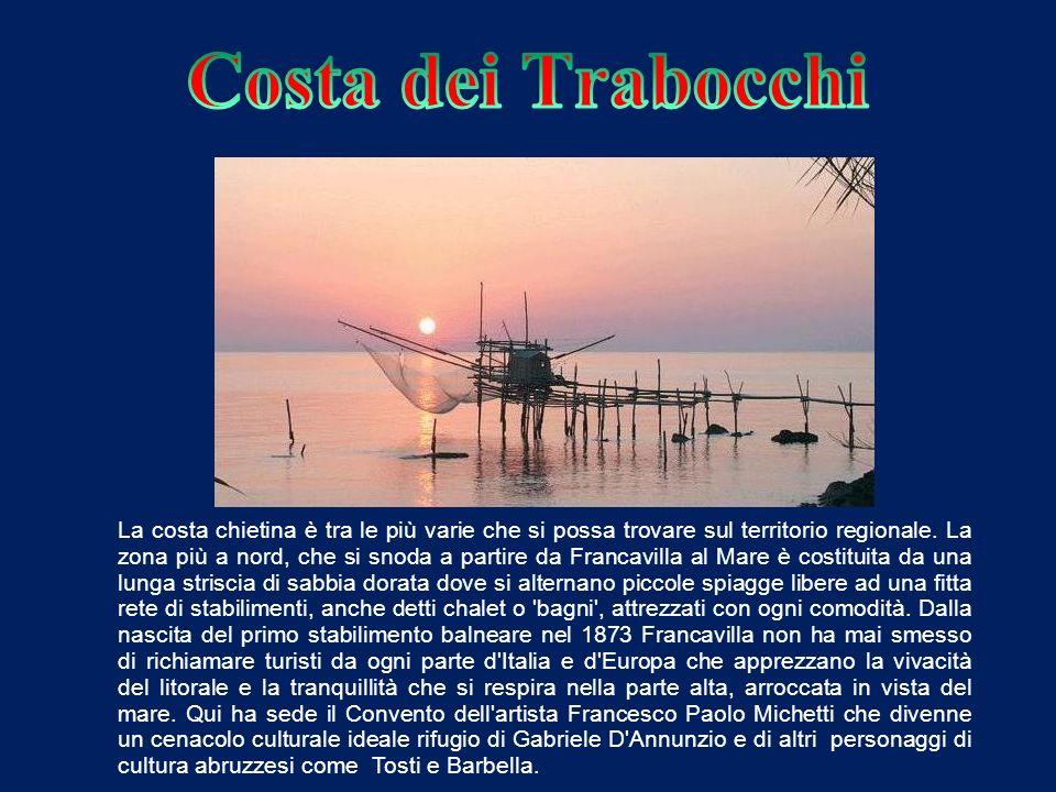 La costa chietina è tra le più varie che si possa trovare sul territorio regionale.