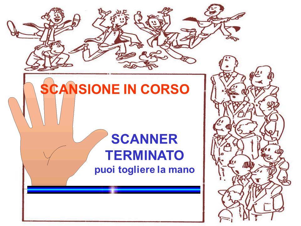 WinHealth 1.0 SCANNER TERMINATO puoi togliere la mano SCANSIONE IN CORSO