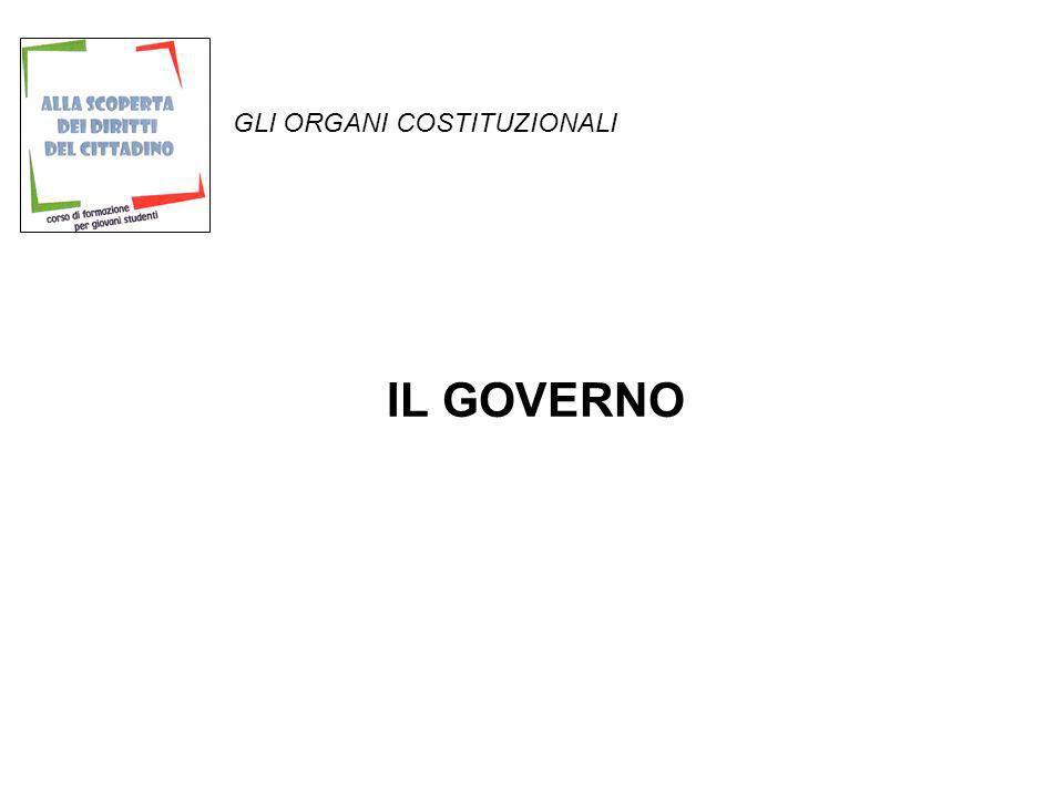 GLI ORGANI COSTITUZIONALI LA SEDE DEL GOVERNO ITALIANO E A ROMA PRESSO PALAZZO CHIGI