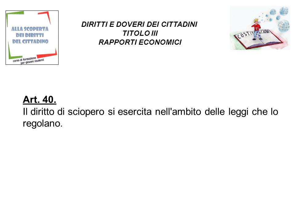 Art.41. L iniziativa economica privata è libera.