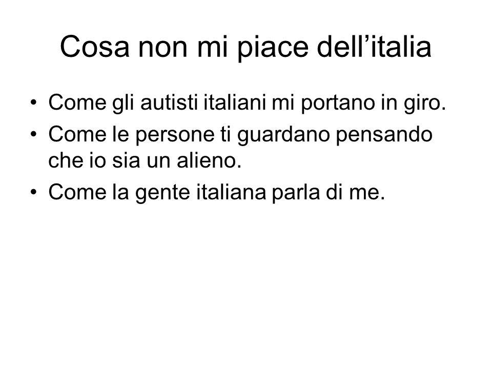 Cosa non mi piace dellitalia Come gli autisti italiani mi portano in giro.