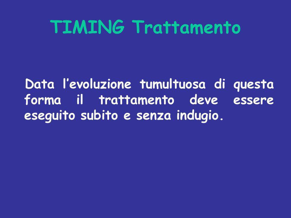 TIMING Trattamento Data levoluzione tumultuosa di questa forma il trattamento deve essere eseguito subito e senza indugio.