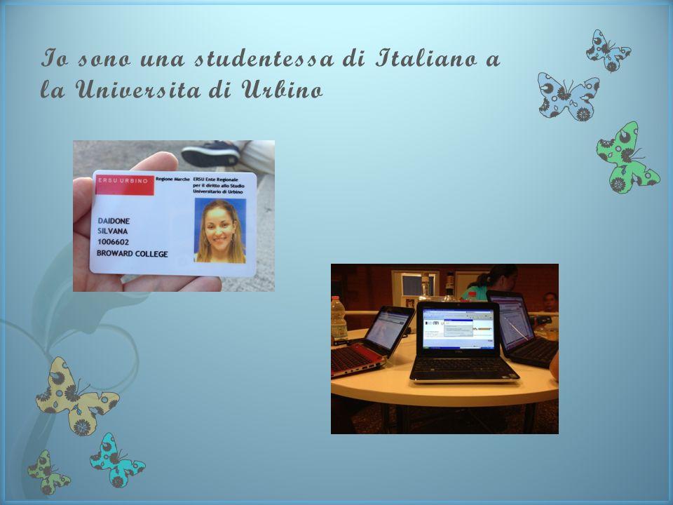 Io sono una studentessa di Italiano a la Universita di Urbino
