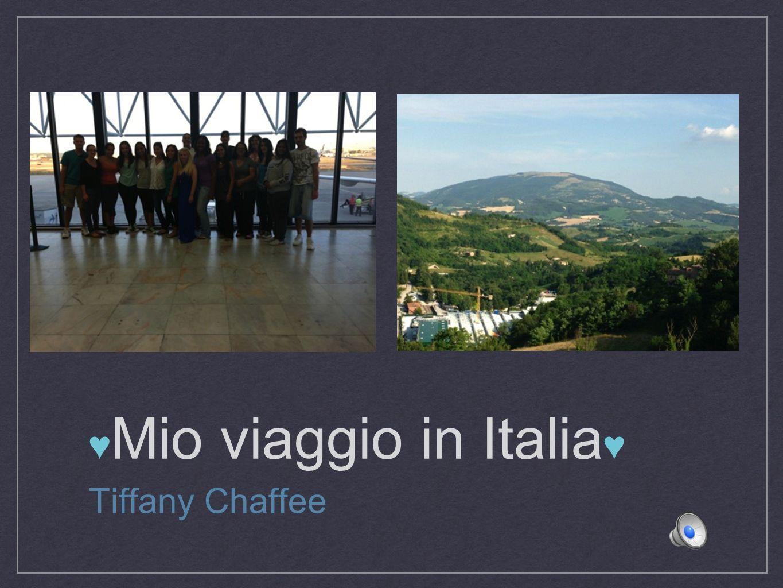 Mio viaggio in Italia Tiffany Chaffee